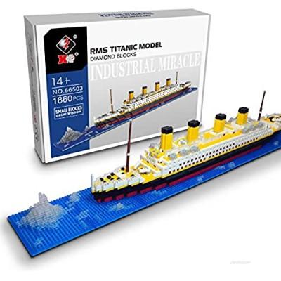 Micro Mini Blocks Titanic Ship Model Building Set  3D Puzzle Educational Toys  1860 Piece Mini Bricks Toy  Gift for Adults and Kids