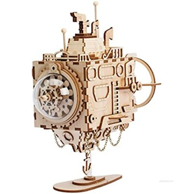 ROKR 3D Assembly Puzzle Build Your Own Wooden Music Box Craft Kits  Brain Teaser Gifts for Kids and Adults (Submarine)