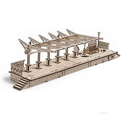 UGears Plywood Railway Platform Collectible Mechanical Model