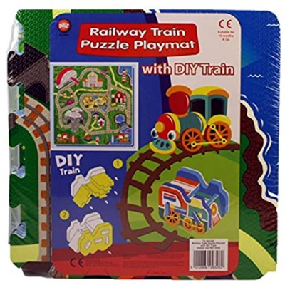 A to Z 09328 Railway Puzzle Play Mat with DIY Train
