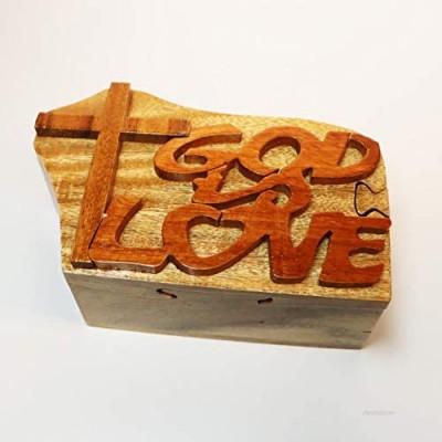 Intarsia Wood Puzzle Box God Love - HC227