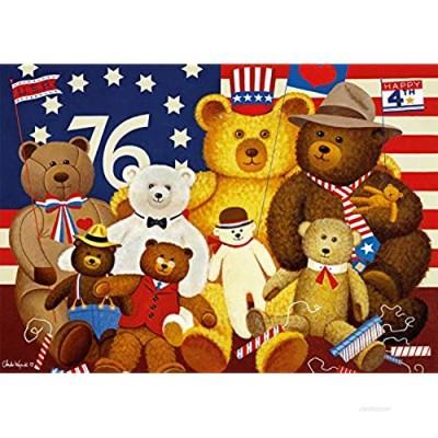 Buffalo Games - Charles Wysocki - Patriotic Stuffy Bunch - 500 Piece Jigsaw Puzzle