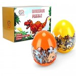 Dinosaur Puzzle Wooden Puzzles 60 Pieces Puzzles for Kids 3 Years+ Dino Toys 2 Pack Boys Girls Gift