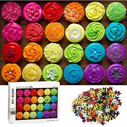 Jigsaw Puzzles 1000 Pieces for Adults  DEELIFE 1000 Piece Puzzle for Adults  Colorful Cookies  Large Jigsaw Puzzle Kids Educational Game Toys Gift for Home Travel