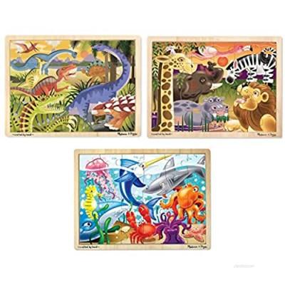 Melissa & Doug Jigsaw Puzzle Bundle (Dinosaur Safari and Ocean)