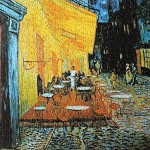 Moruska Cafe Terrace at Night by Vincent Van Gogh Jigsaw Puzzle 1000 Piece Art Puzzles for Adults