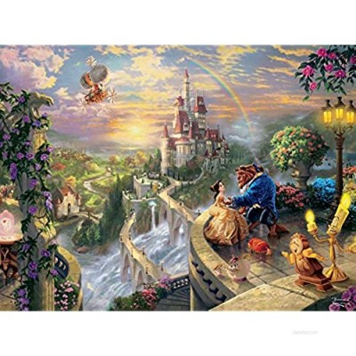 """Thomas Kinkade The Disney Dreams Collection: Beauty and The Beast Falling in Love Puzzle  750 Pieces  24"""" X 18"""""""