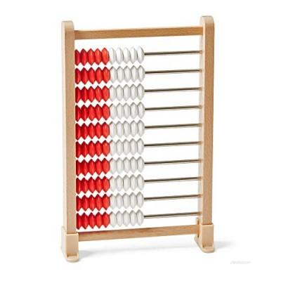 hand2mind Mini 100-Bead Wooden Rekenrek Abacus  Abacus for Kids Math  Wooden Counting Math Manipulatives  Bead Counters for Kids Math  Learn Counting and Numbers  Homeschool Supplies (Set of 1)