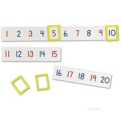 Learning Resources Magnetic Number Line 1-100  20 Magnets  Classroom Accessories  Teacher Aids  Sets of 5 Magnets  Ages 3+ (LER5194)