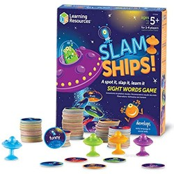 Learning Resources Slam Ships Sight Words Game  Homeschool  Visual  Tactile and Auditory Learning  Ages 5+
