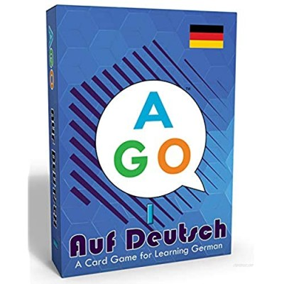 AGO Auf Deutsch - Card Game for Beginners Learning German! Practice German Conversation While Playing a Fun Card Game!