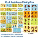 hapray Animals Letters Matching Game ABC Memory Game for Toddlers 60 Cartoon Flash Cards for Kids Preschoo Learning Toys and Alphabet Games for Boys & Girls Age 3 to 5 - A Fun & Fast