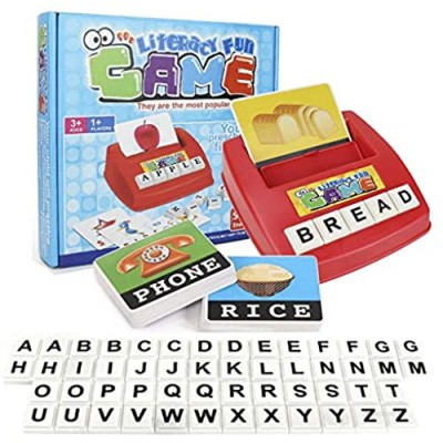 Matching Letter Games for Kids  Educational Learning Toys for Toddlers Age 3-8  Alphabet Reading and Spelling Sight Words Flash Cards Toys for 3 4-8 Year Old Boys Girls Xmas Birthday for Kids
