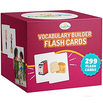 Vocabulary Builder Flash Cards - 299 Educational Photo Cards - Emotions  Go Togethers  Nouns  Opposites  Prepositions  Verbs - Speech Therapy Materials  ESL Teaching Materials +7 Learning Games