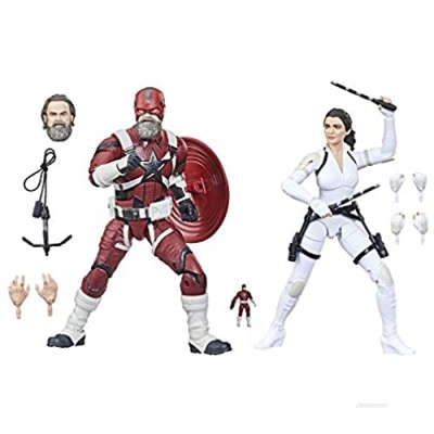 Avengers Hasbro Marvel Legends Series 6-inch Scale Red Guardian & Melina Vostkoff Figure 2-Pack and 12 Accessories for Kids Age 4 and Up