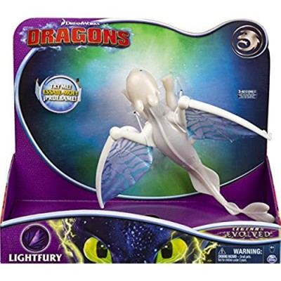 Dreamworks Dragons  Lightfury Deluxe Dragon with Lights and Sounds  for Kids Aged 4 and Up