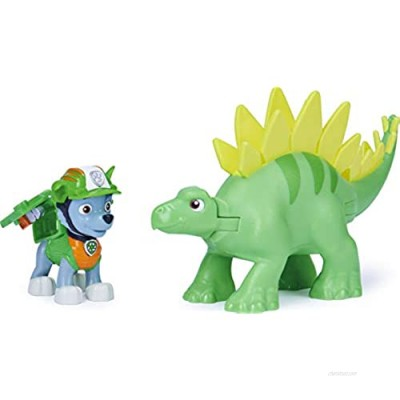 Paw Patrol  Dino Rescue Rocky and Dinosaur Action Figure Set  for Kids Aged 3 and up