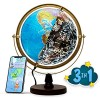 """SJSMARTGLOBE with Interactive APP & LED Illuminated Constellations at Night  Educational Content for Kids  US-Patented STEM Toy  10"""" World Globe with Detailed map"""