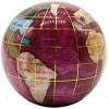 Unique Art 3-Inch Pink Pearl Swirl Ocean Gemstone World Globe Paper Weight