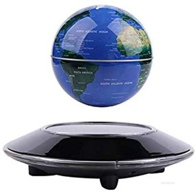 Vhouse'' Magnetic Levitation Floating Globe Anti Gravity Rotating World Map with LED Light for Children Educational Gift Home Office Desk Decoration