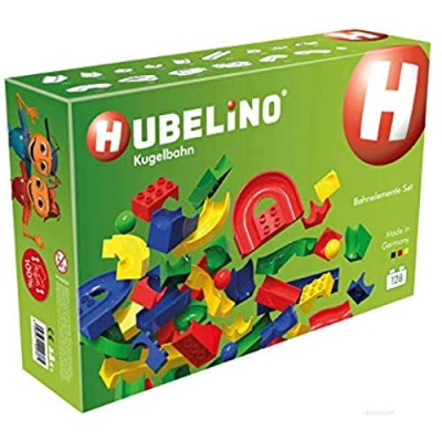 Hubelino 128 Piece Run Elements - The Original Duplo Compatible Marble Run Expansion Set - Made in Germany