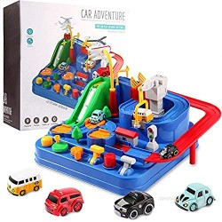 Wemfg Race Tracks for Boys Car Adventure Toys for 3 4 5 6 7 8 Year Old Boys Girls  Race Track for Toddlers  Preschool Educational Toy Vehicle Puzzle Car Track Playsets for Toddlers  Kids Toys Age 3+