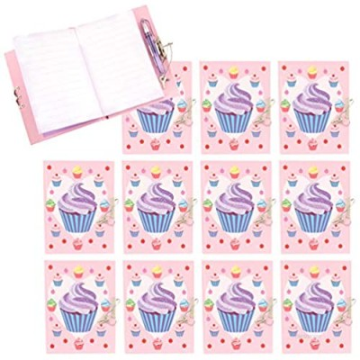 Babalu (12 Pack Girls Glitter Diary with Pen  for Girls  Teen and Tween Gifts  Journal with Lock and Key Secret Hardcover Notebook for Daily Journal Writing