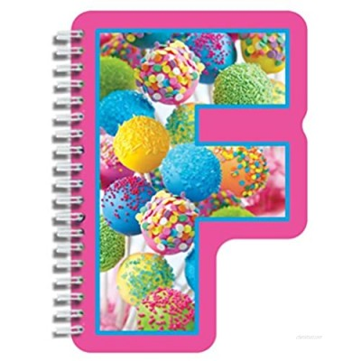 """iscream Letter F Shaped Spiral-Bound Lined Page 6.5"""" Initial Notebook"""