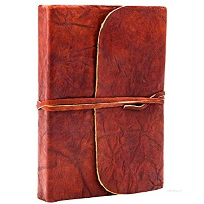 Mythrojan Crush Leather Journal Note Book (7 X 5 inches) – Handmade Vintage Leather Crush Journal for Men & Women – Brown