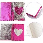 N A Magic Reversible Sequin Kids Diary Notebook Secret Kids Diary Personalized Notebook Journal with Combination Lock Bangle Bracelet Keychain and Pink Writing Pen