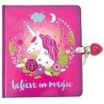 Playhouse Believe in Magic Unicorn Shiny Foil Cover Lock & Key Lined Page Diary for Kids