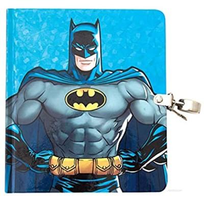 Playhouse DC Comics Batman Shiny Foil Lock & Key Lined Page Diary for Kids