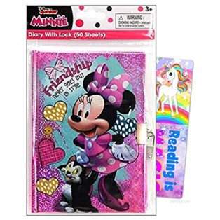 TriCoastal Minnie Mouse Journal Writing Notebook Diary Bundle Includes Separately Licensed GWW Bookmark