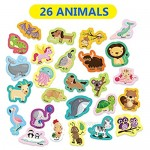 52 Pcs Animal Magnets Abc Alphabet Letters Fridge Magnet 52 Educational Toy Set for Toddler Kids