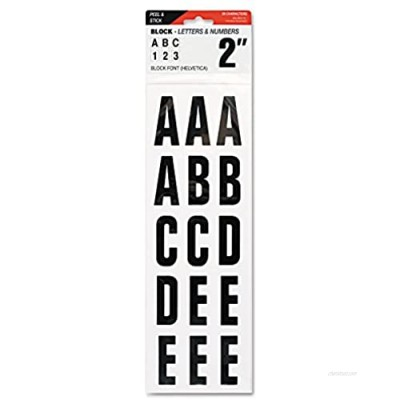 """Creative Start Indoor/Outdoor Letters & Numbers Adhesive  2""""  White"""