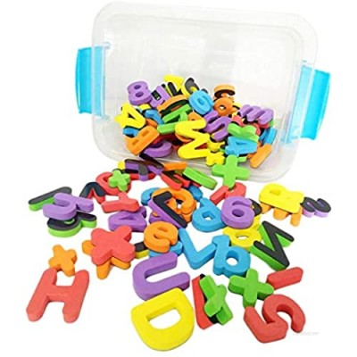 Deke 123 Pieces Magnetic Fridge/Refrigerator Foam Letters  Numbers & Symbols. Premium Large Foam Magnetics. for Kids Toddlers Preschool  Letter Learning Spelling. in Canister (Min Age: 36 Months)
