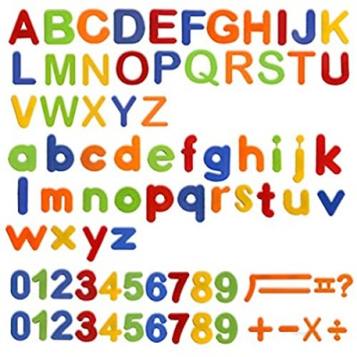 HOONEW Magnetic Letters Numbers Alphabet ABC 123 Fridge Magnets Colorful Plastic for Educational Toy Set Preschool Learning Spelling Counting Game Uppercase Lowercase for Toddler Kids(80 Pcs)