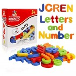 JCREN 80Pcs Magnetic Letters Numbers Learning Toys Alphabet Fridge Magnets Preschool Educational ABC 123 Refrigerator Spelling Counting Math Symbols fo Kids Toddlers 3+
