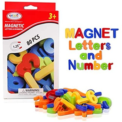 Magnetic Letters  HCFGS 80PCS Alphabet Magnets Educational Magnetic Letters and Numbers for Toddlers ABC Magnets Fridge Magnetic Toys