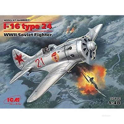 ICM Plastic Model Airplane I-16 Type 24  WWII Soviet Fighter 1/48 48097