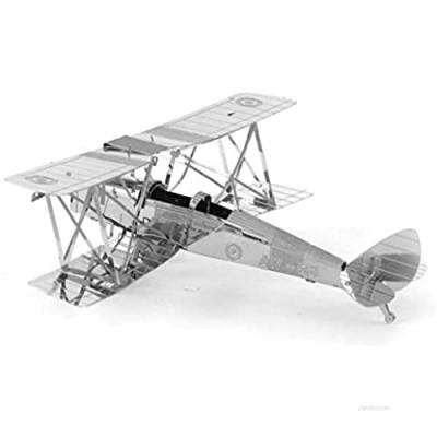 Metal Earth Fascinations DH82 Tiger Moth Airplane 3D Metal Model Kit