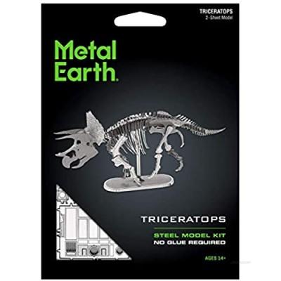 Metal Earth Fascinations Triceratops Skeleton 3D Metal Model Kit