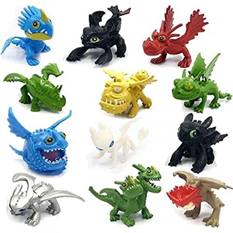 Chez How to Train Your Dragon 12 pcs Action Figures Set - New Dragons