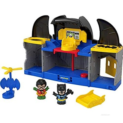 Fisher-Price Little People DC Super Friends Batcave  Batman Playset with Figures for Toddlers and Preschool Kids Ages 18 Months to 5 Years
