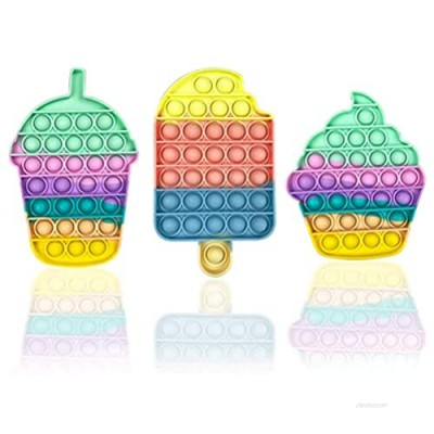 Anditoy 3 Pack Pop Fidget Toys Set Summer Design Sensory Toys Pack for Kids Boys Girls Adults Stress Relief