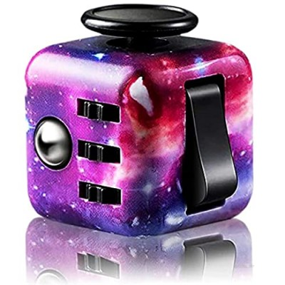 Claysen Fidget Cube Fidget Toy  Stress and Anxiety Relief Mini Toys Preschool Toys  Fidget Toy Cube Relaxing Hand-Held for Adults and Kids  Killing Time Cool for ADD/ADHD/OCD (Starry Sky) NUFR