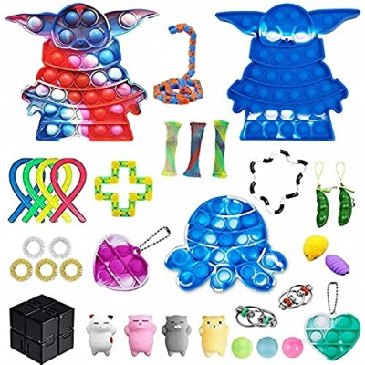 ZNNCO 34 Pcs Fidget Packs  Fidget Toy for Stress and Anxiety Relief of ADHD and Autism Stress Toy  Fidget Toys Set for Kids Adults
