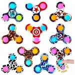 GOHEYI 10 Pack Pop Fidget Spinners Push Pop Bubble Fidget Toy Simple Dimple Spinner for Kids Handheld Mini Popping Sensory Stress Relief Toys