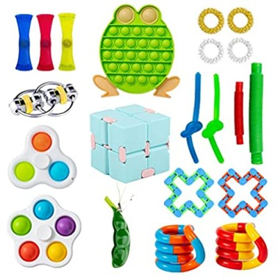 paerma Adults Kids Fidget Sensory Mini Toy Pack  figetget Cheap Toys Pack with Simple Dimple and Pop it Can Help Relieves Stress and Anxiety of figit Gifts Boxes