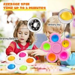 SCIONE 10 Pack Fidget Spinners Fidget Toys Sensory Fidget Toys for Kids Adults Fidget Packs with Colorful ADHD Anxiety Stress Relief Reducer